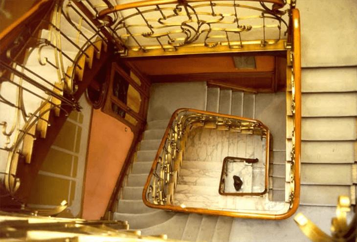 Art-Nouveau-Treppe von Victor Horta