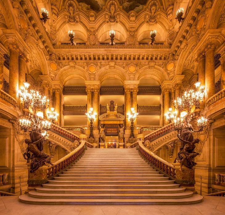 Barocke Treppenanlage Pariser Oper von Charles Garnier