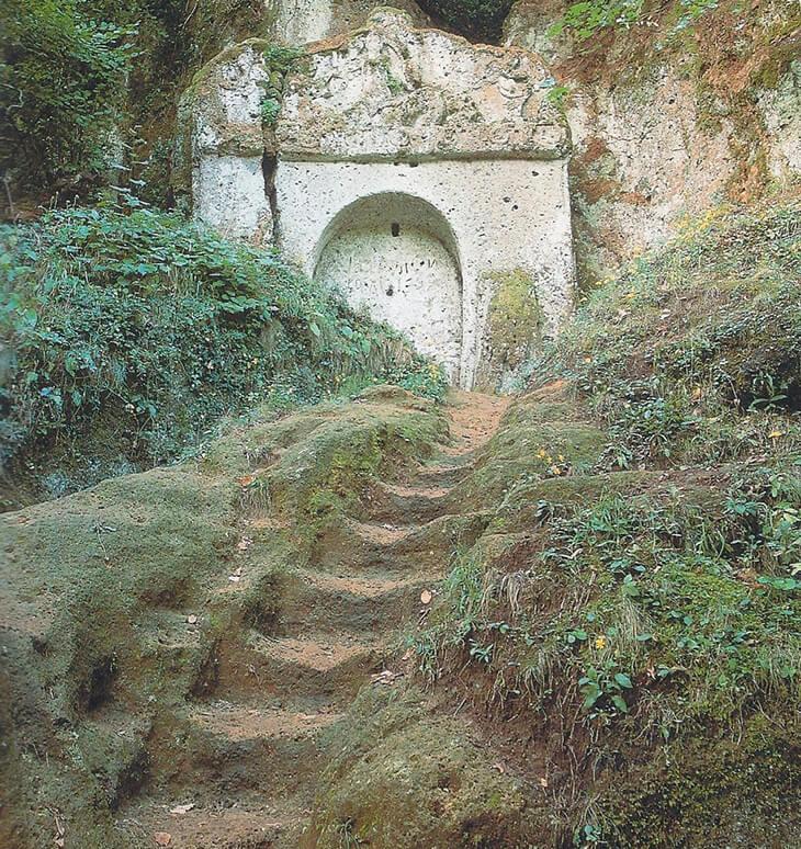 Etruskische Treppe Norditalien