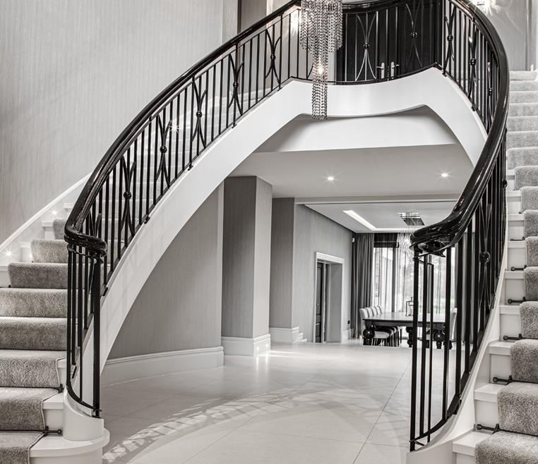 Exklusive Art Deco Treppe