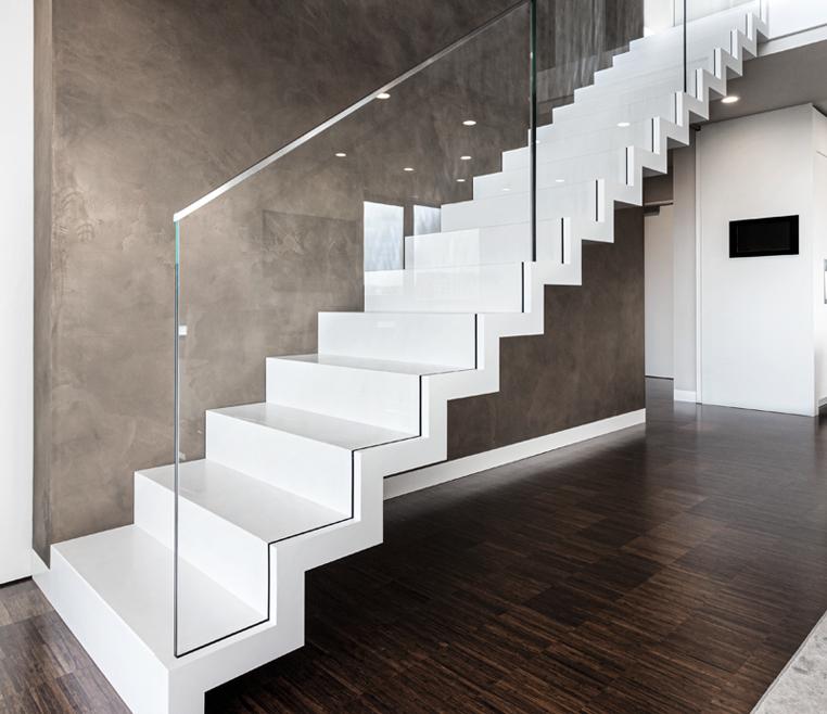 Exklusive Bauhausstil Treppe