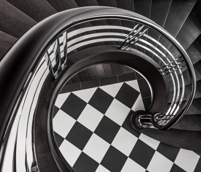 Form einer Bogentreppe