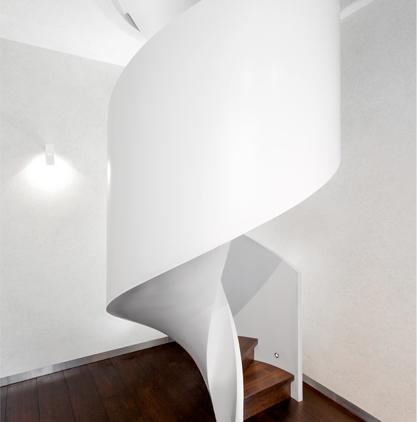 Form einer modernen Treppe