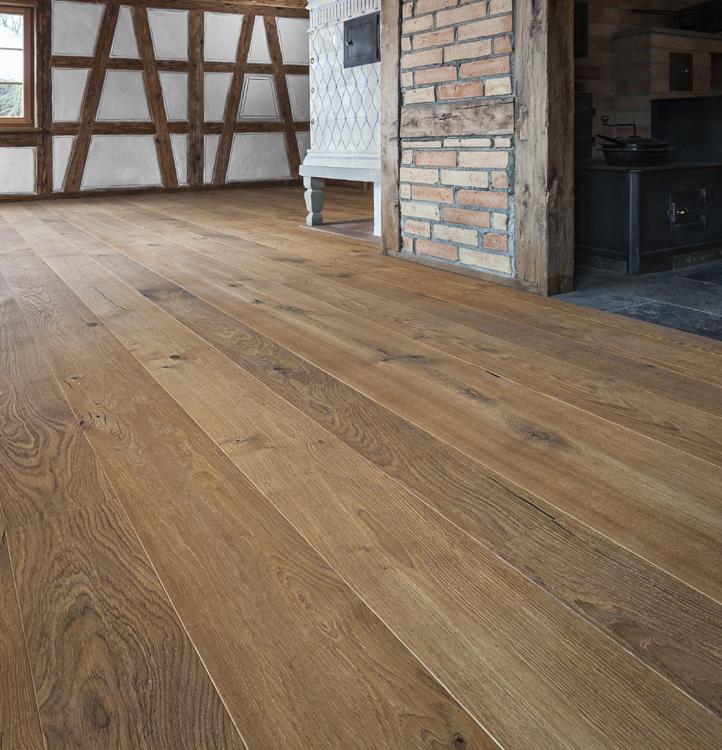 Holzdiele rustikales Hartwachsöl matt