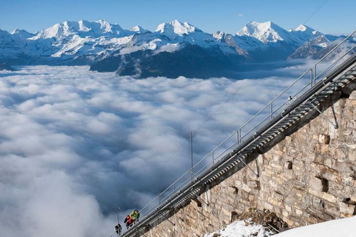Längste Treppe der Welt Schweiz 11674 Stufen
