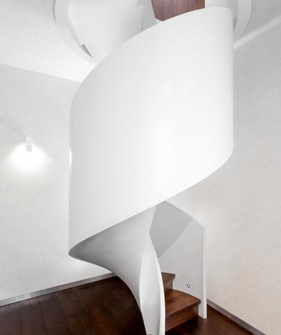 Moderne Spiraltreppe