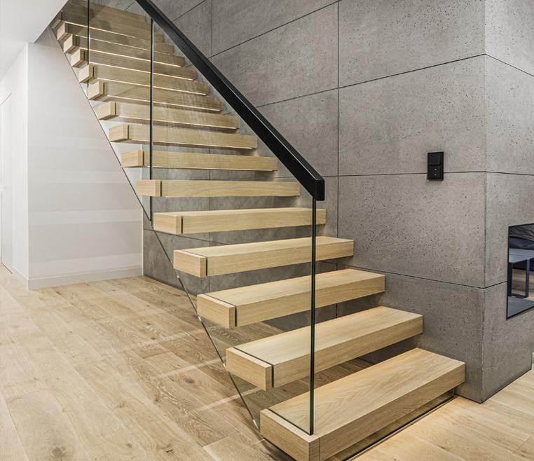 Treppe im Bauhausstil