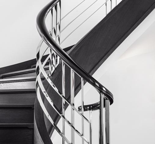 Treppengeländer einer Bogentreppe