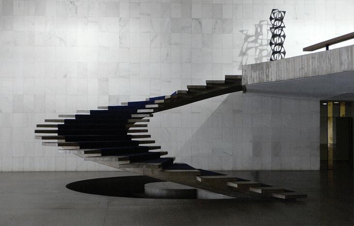 Treppensilhouette von Oscar Niemeyer