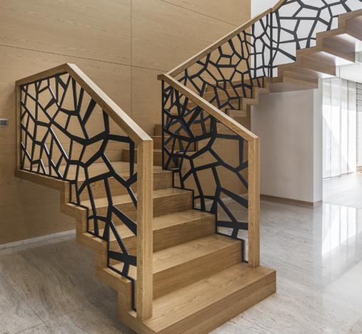 Treppengeländer-Metall-Metallgeländer